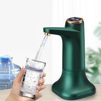 Bomba dispensadora de agua eléctrica, recargable por USB, silenciosa, automática, con Base
