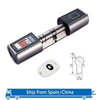 L5SR WELOCK Bluetooth Smart Lock Electronic Cylinder Outdoor Waterproof Biometric Fingerprint Scanner Keyless Door Locks