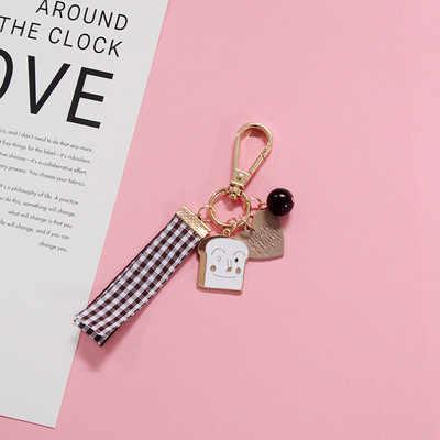 Criativo Cristal Cereja chaveiro Mulheres Saco Bonito do amor Dos Desenhos Animados Da Fita Chaveiros Carro Chaveiro Pingente de Presente Da Moda