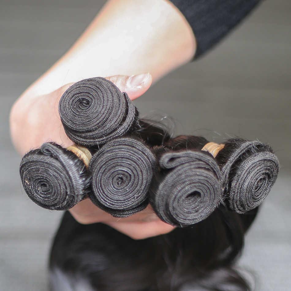 Rosa Schönheit Unverarbeitete Peruanische Körper Welle Reines Haar 3 Bundles 100% Menschenhaar Verlängerung 8-30 28Inch Versand freies
