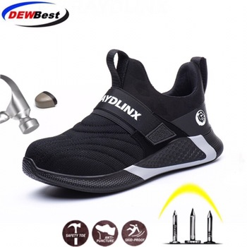 New Breathable Mesh Safety Work Shoes Men Light Sneaker Indestructible Steel Toe Soft Anti-piercing Boots Plus size - discount item  23% OFF Workplace Safety Supplies