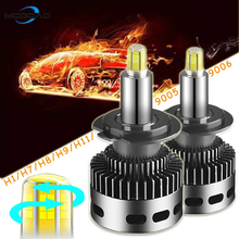 2Pcs 12 Side 3D Car Headlights 19000LM H11 H7 Canbus No Error H8 H1 HB3 9005 9006 360 degre CSP LED Bulb Automotive Fog Lamp 12V
