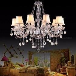 Styl skandynawski abażur do E14 crystal świeca na żyrandol światła do sypialni salon cieniowania w Klosze i abażury do lamp od Lampy i oświetlenie na