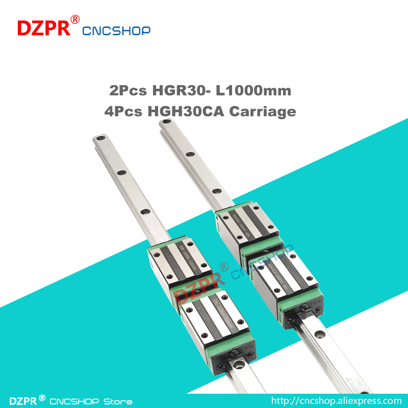 Precision Linear Guide HGR30 1000mm 39.37in Rail HGH30CA Carriage Slide for CNC engraving robot Woodwork laser textile machine