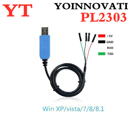 PL2303 TA USB TTL RS232 Convert Serial Cable PL2303TA Compatible With Win XP/VISTA/7/8/8.1 Replace PL2303HX
