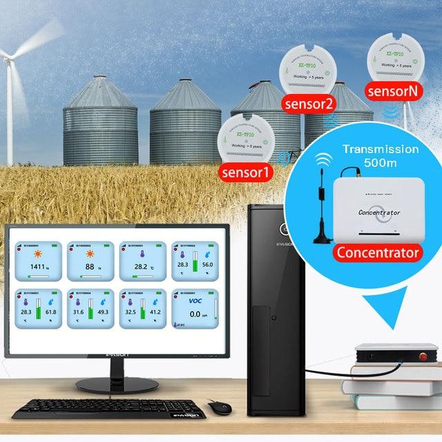Getreide Feuchtigkeit Sensor 433/868/915mhz Temperatur Feuchtigkeit Sensor Temperatur Feuchtigkeit Drahtlose Daten Logger für Getreide Silos