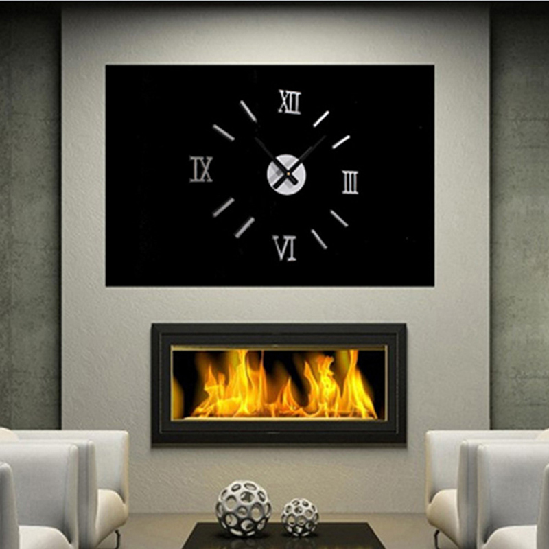 Beautiful 3D Creatively Romae Digital Wall Clock Sticker Watch Modern Design Clock DIY Clocks On Wall Kitchen Clock Living Room