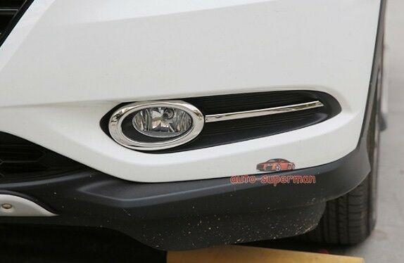 304 S.Steel fog light Bezel Chrome trim 4pcs For Honda Vezel HRV 2015 2016 2017|Chromium Styling| |  - title=