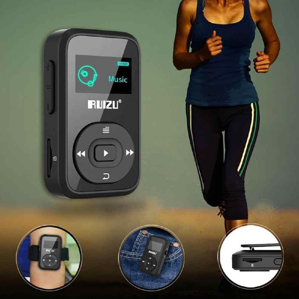 BEESCLOVER RUIZU MP3 プレーヤー X26 8 ギガバイトクリップスポーツ Bluetooth MP3 音楽プレーヤー Oled スクリーンロスレス偉大なパフォーマンス r60