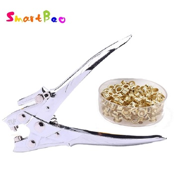 Eyelet Hole Puncher Save Power Grommet Plier Metal Hole Punch with Eyelet Pliers 5mm Round Hole Grommet Setting Tool Kits фото