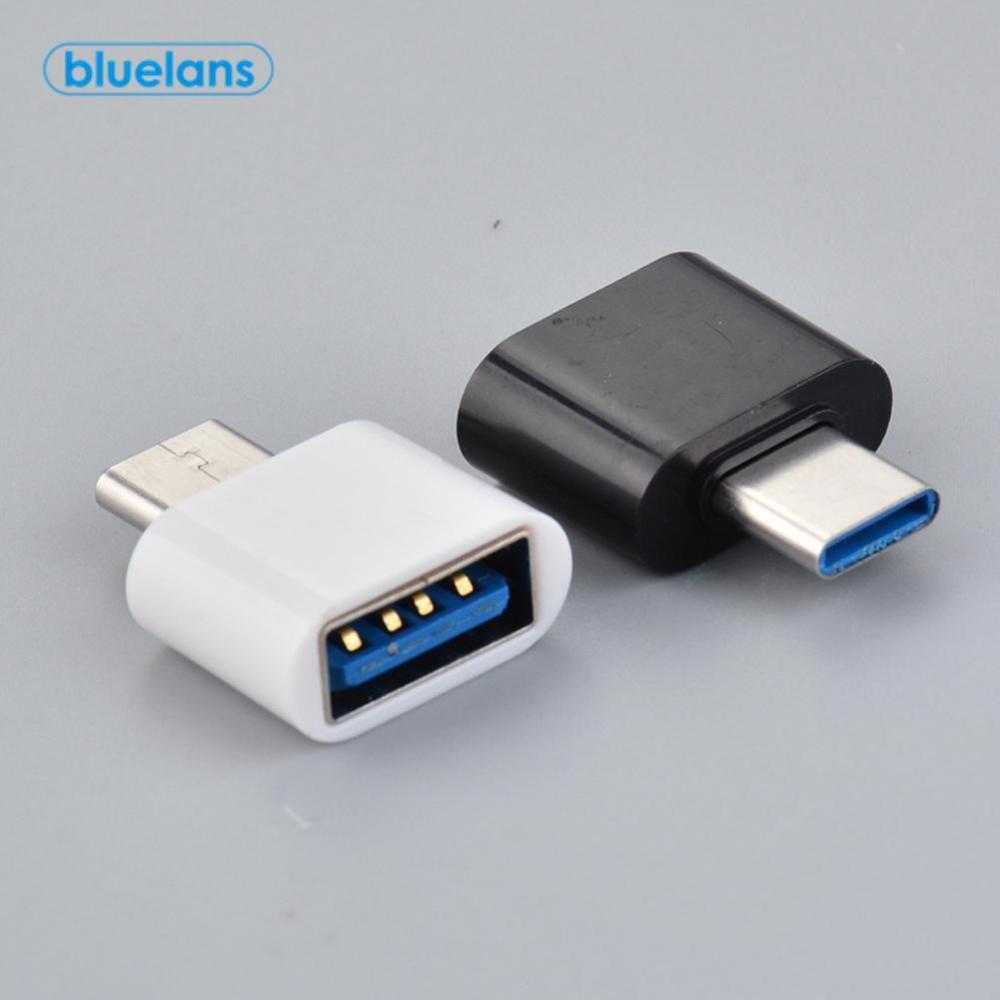 2 pces usb universal para tipo c adaptador para android móvel mini tipo-c jack divisor smartphone usb c conectores otg conversor