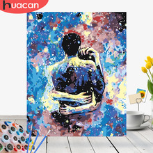 HUACAN Painting By Numbers Lovers Kits Drawing Canvas HandPainted Home Decor DIY Oil Pictures Girl Figure
