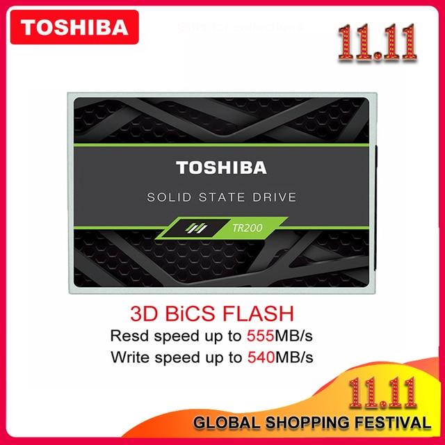 """TOSHIBA unidad de estado sólido para ordenador y portátil, dispositivo de almacenamiento de 240GB, OCZ TR200, 480GB, 64 capas, 3D, BiCS, FLASH, TLC, 2,5 """", SATA III, 960GB"""