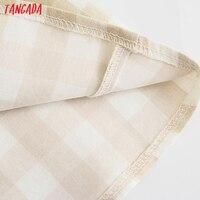 Tangada Women Plaid Print Summer Dress Sleeveless Backless 2021 Summer Fashion Casual Dresses Vestido 4N71 4