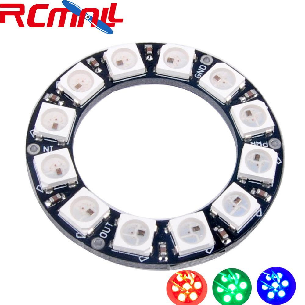 12 Bits 12 X WS2812 5050 RGB LED Ring Lamp Light With Integrated Drivers DIY RCmall FZ1557