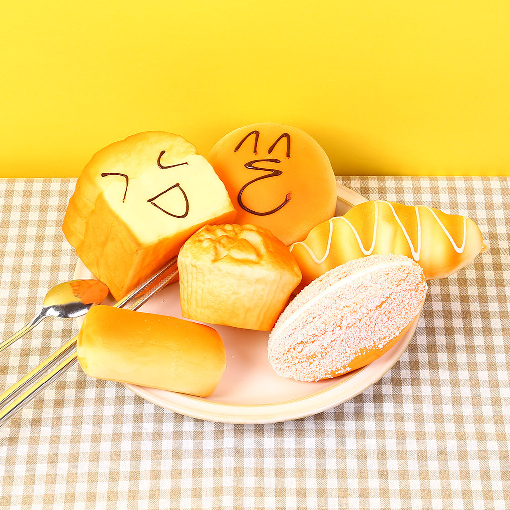 Simulation Yummy Bread Soft Squishies Doll Toy Kids Gift Breakfast Toast Scented Slow Rising Toy Stress Relief Squeeze Palm Toys