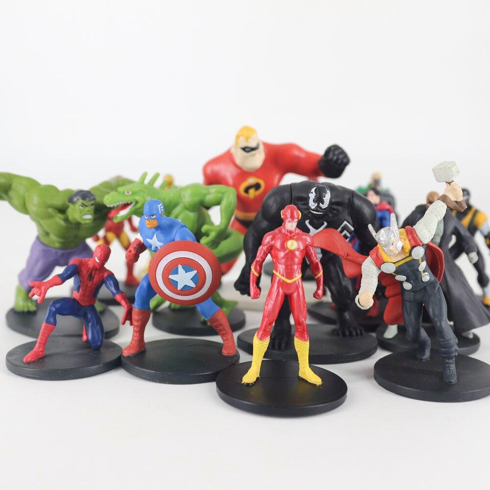 Avengers Action Figure Superheroes Original Batman Flash Superman Wonder Woman Hulk Aquaman Captain Gifts