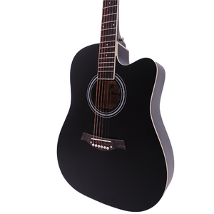 Image 4 - 38/41 inch Acoustic Guitar Folk Guitar for Beginners 6 Strings Basswood with Sets Black White Wood Brown Guitar AGT16