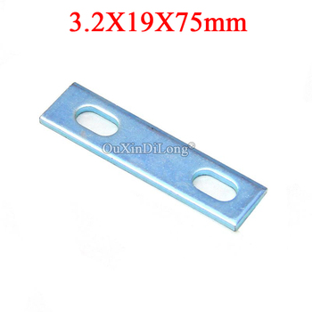 Designed 50PCS Metal Straight Flat Corner Braces Furniture Connecting Fittings Frame Board Support Brackets Hardware 3.2X19X75mm