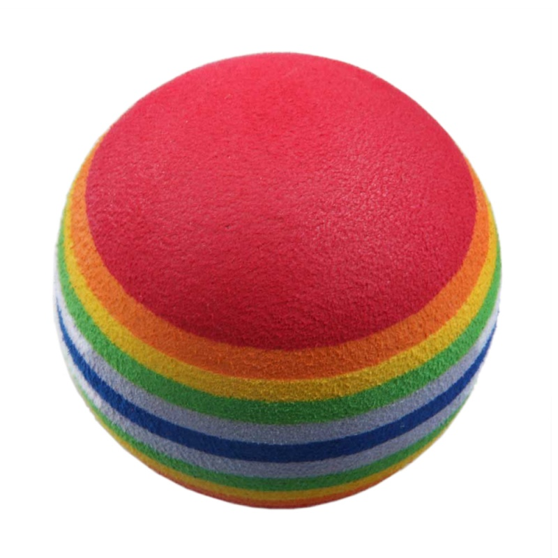 New 50pcs Golf Swing Training Aids Indoor Practice Sponge Foam Rainbow Balls