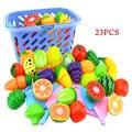 23 шт. образование для развлечения детей обучающие игрушки для детей, ролевая кухонный нож фрукты овощи еда игрушка резка подарочный набор