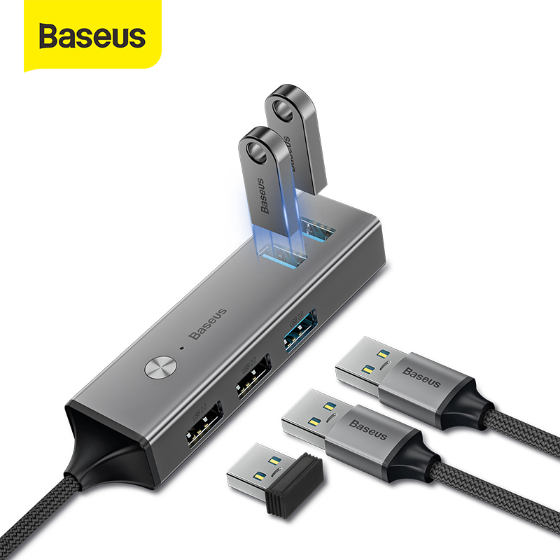 Baseus USB C HUB To USB 3.0 USB 2.0 USB HUB For MacBook Pro Surface Pro 6 Type C HUB Expand 5 Ports USB Ports USB Splitter
