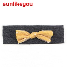 Sunlikeyou Kids Bowknot Baby Girl Accessories Bows Cotton Elastic Newborn Headwear Toddler Hair band Turban Baby Headband baby headband ribbon flower handmade diy toddler kid hair accessories floral girl newborn bows photography turban elastic infant