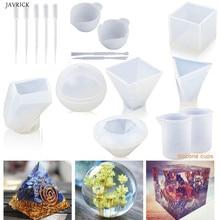1 Bộ Lớn Rõ Ràng Tự Làm Khuôn Silicone Cho Nhựa Nhựa Dính Khuôn Bao Gồm Khối Lập Phương Đá Nhựa Khuôn Nhựa Đúc Khuôn đo