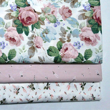 Стеганые ткани из хлопка с принтом в цветочек, шитье в стиле пэчворк, рукоделие, аксессуары ручной работы, 100*160 см, самодельная занавеска, диван