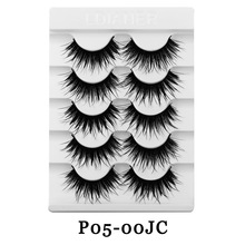 3D Mink Hair False Eyelashes sets Natural Long /Thick 3D Eyelashes Crisscross Full Strip Lashes Handmade Eyelashes 5 Pairs