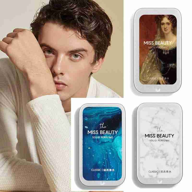 Women Men Perfume Solid Perfumes Balm Iron Box Easy To Carry Body Fragrance Alcohol-free Aroma Deodorant Scented Fragrance