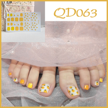 1sheet New Toenail Stickers QD/GD Series Feet Stickers Summer Decoration Korea Style Mixed Shiny Toe Nails Art Supplies Manicure