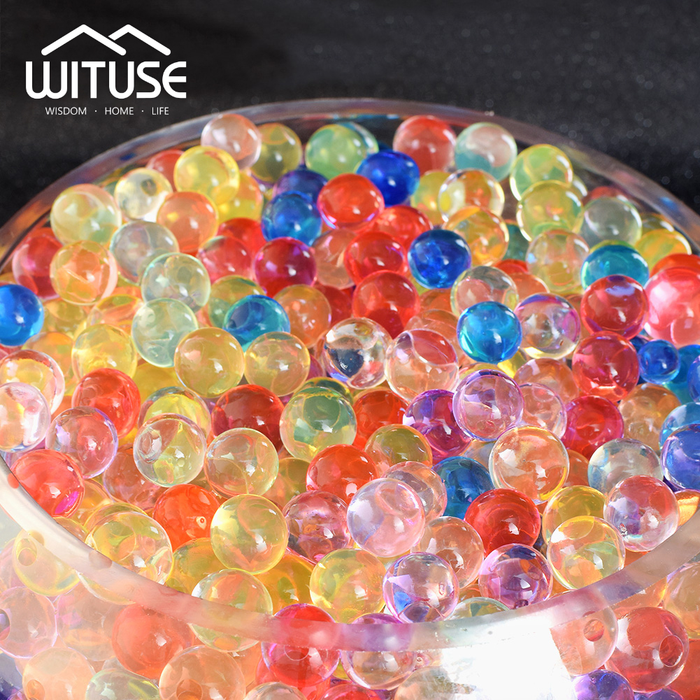 3000pcs 13mm Orbiz Water Beads Crystal Soil Hydrogel Balls Growing Gel Ball For Flowers Water Decorative Wedding Home Decoration