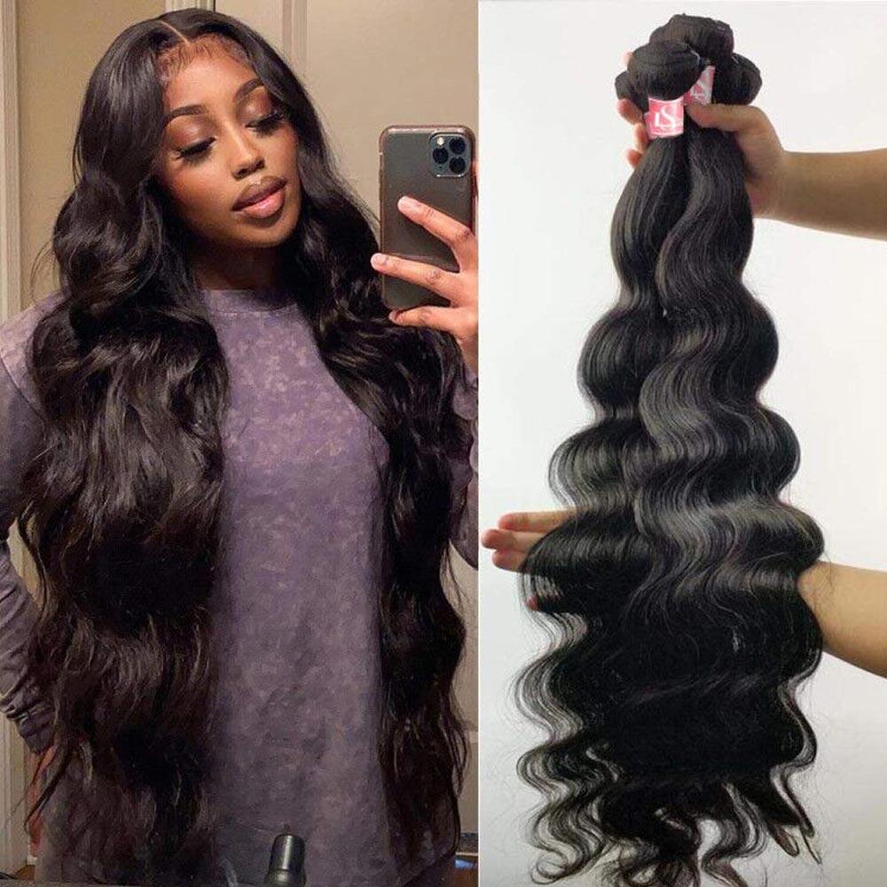 Brazilian Body Wave Human Hair Weave Bundles Extensions 1