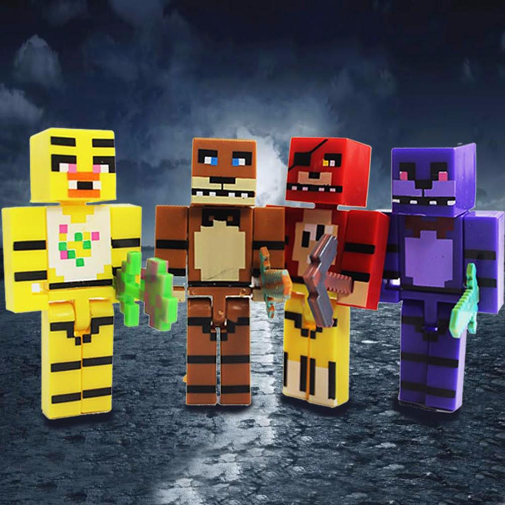 4pcs Five Nights At Freddy Figure FNAF Foxy Chica Bonnie Freddy Action Figures Kid Birthday Christmas Gift Toy