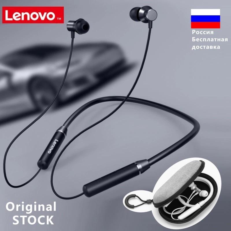 Lenovo he05 bluetooth 5.0 neckband fone de ouvido sem fio estéreo esportes magnético esportes correndo ipx5 à prova dheadset água