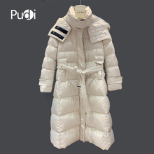 Winter women warm down casual jacket 90% down girl hood coats lady long jacket overcoat C401203 цены