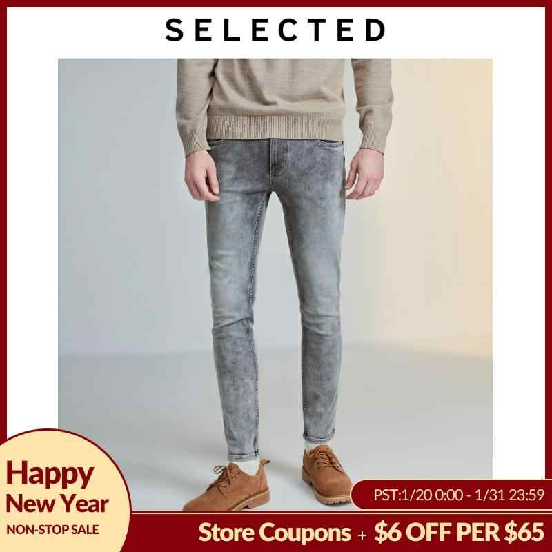 SELECTED Men's Stretch Cotton-blend Skinny Jeans LAB 419432511