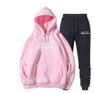 Image 2 - Мужская спортивная одежда с принтом, пуловер в стиле хип хоп, новинка 2019