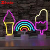 Luz de neón LED 11 estilos colores arcoíris neón señal USB/batería alimentación habitación hogar fiesta boda decoración Navidad cumpleaños regalo