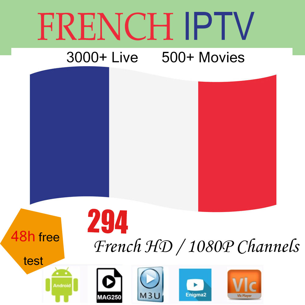 IPTV M3U France 1 Year Europe Subscription French Sport TV Channels VOD Movie For Smart TV IPTV Smarters Pro With Adult Option