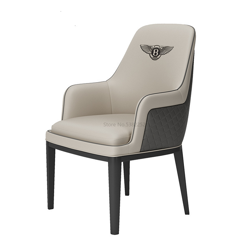 Bentley Sales Office Negotiates Table And Combination Post-modern Simple Reception Hotel Light Luxury Dining Chair  Wooden