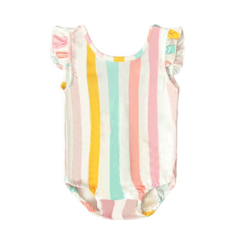 Summer Baby Girl Swimwear Toddler Infant Baby Girl Kids Stripe Bikini Swimwear Swimsuit Bathing Beachwear