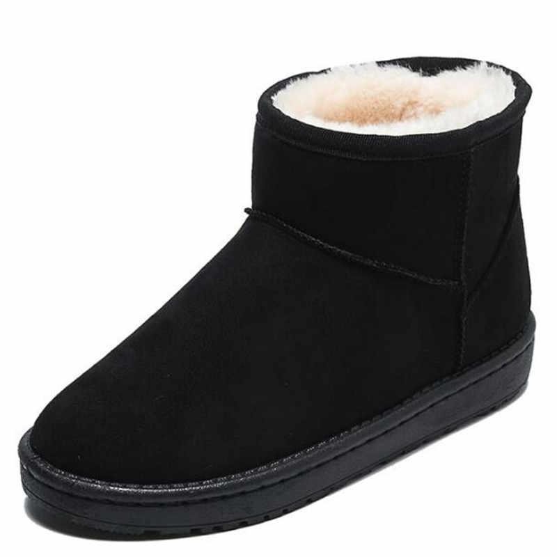 LZJ 2019 winter nieuwe Australische stijl vrouwen snowboots waterdichte echte winter laarzen warm vrouwen laarzen hoge laarzen z480