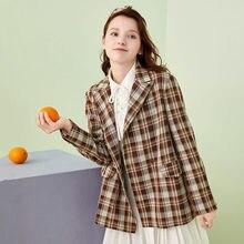 Artka 2020 осенние новые женские блейзеры Модные Винтажные клетчатые