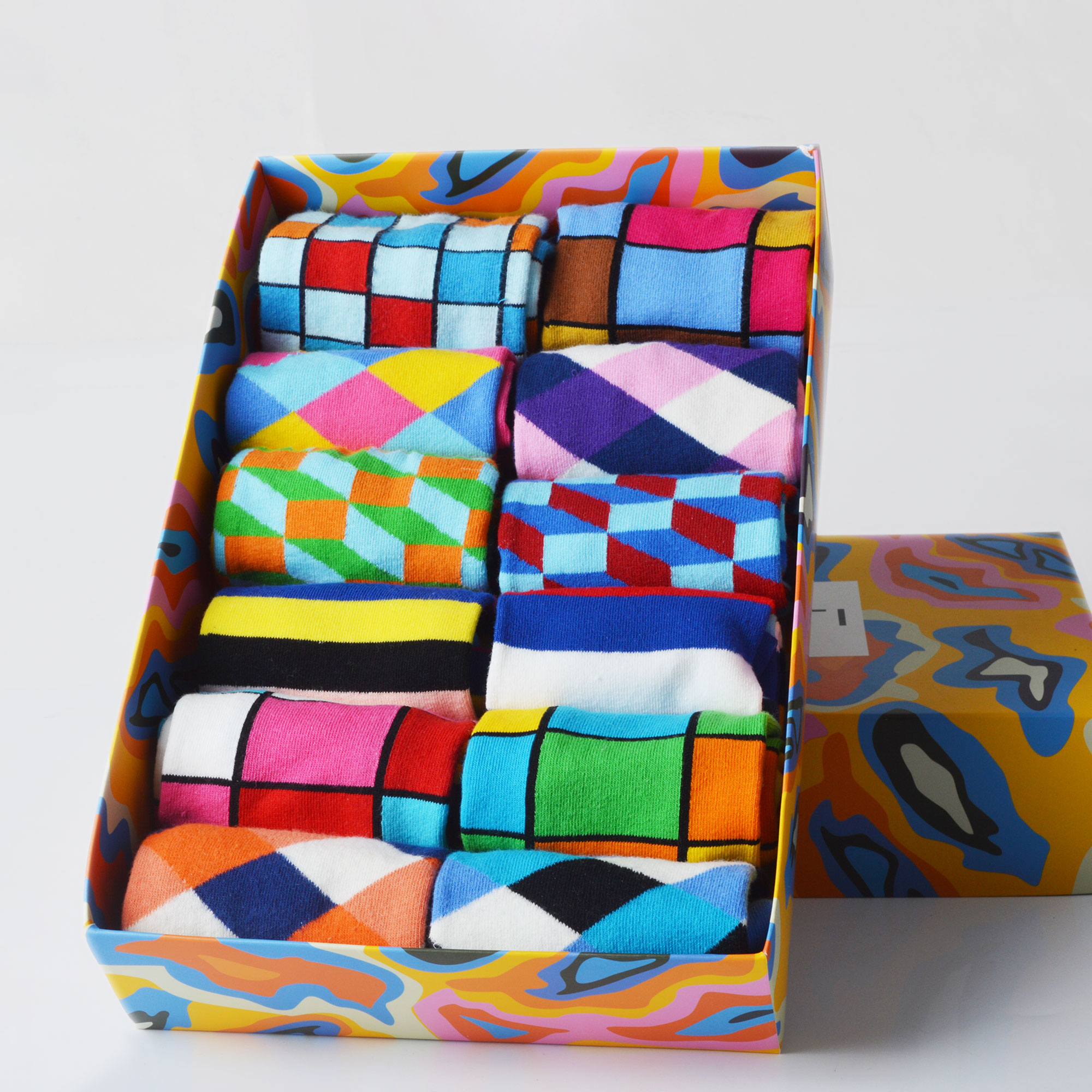 SANZETTI Brand 2020 New Happy Men Socks Bright Colorful Novelty Pattern Dress High Quality Socks Funny Wedding Socks Gift Box
