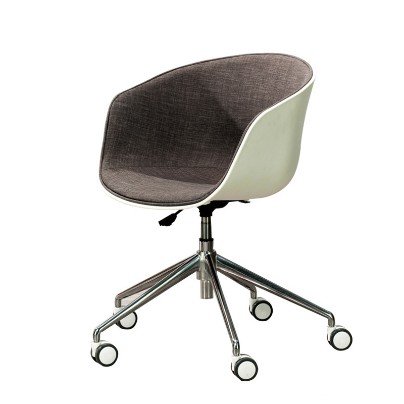 Nordic Computer Chairs Cheap Modern Leisure Swivel Chairs Creative Living Room Furniture Office Chairs Gold Metal Chair Cadeira