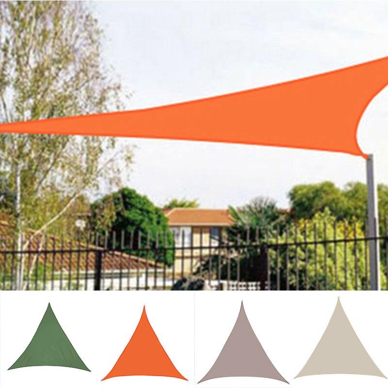 Треугольник солнцезащитный козырек защита ткань сплошной цвет открытый навес сад патио бассейн тень парус навес кемпинг тень большой ткань