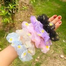 INS – bandeau en fil de caoutchouc Transparent pour filles, chouchous Vintage, accessoires mignons pour cheveux