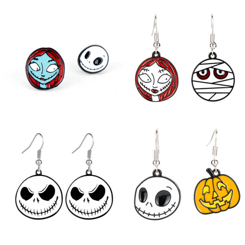 Film Horor Nightmare Before Christmas Her Jack Nya Sally Akrilik Anting-Anting untuk Wanita Wanita Pasangan Hadiah